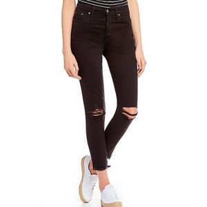 Levi's size 14 wedgie fit ripped skinny jeans